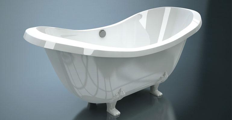 Ванна из литьевого мрамора, заказать по выгодной цене в Сочи