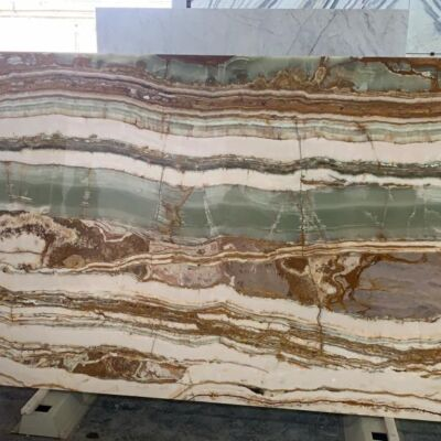 Verde Top Слэб из натурального камня (оникс)