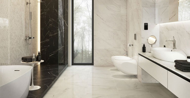 Купить плитку для ванной комнаты из мрамора по выгодной цене в Сочи