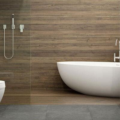 Как сочетать мрамор и дерево в дизайне ванной комнаты? Рекомендации производителя Mercedestone по дизайну интерьера