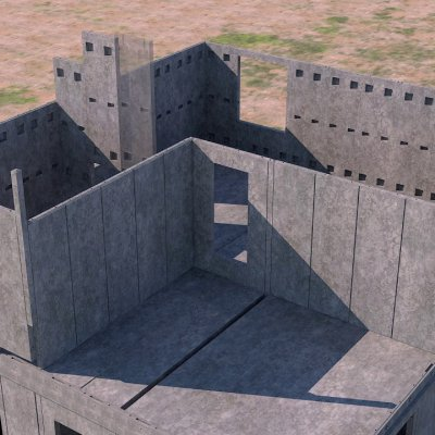 бетонные дома